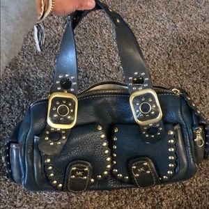 Micheal Kors navy blue purse
